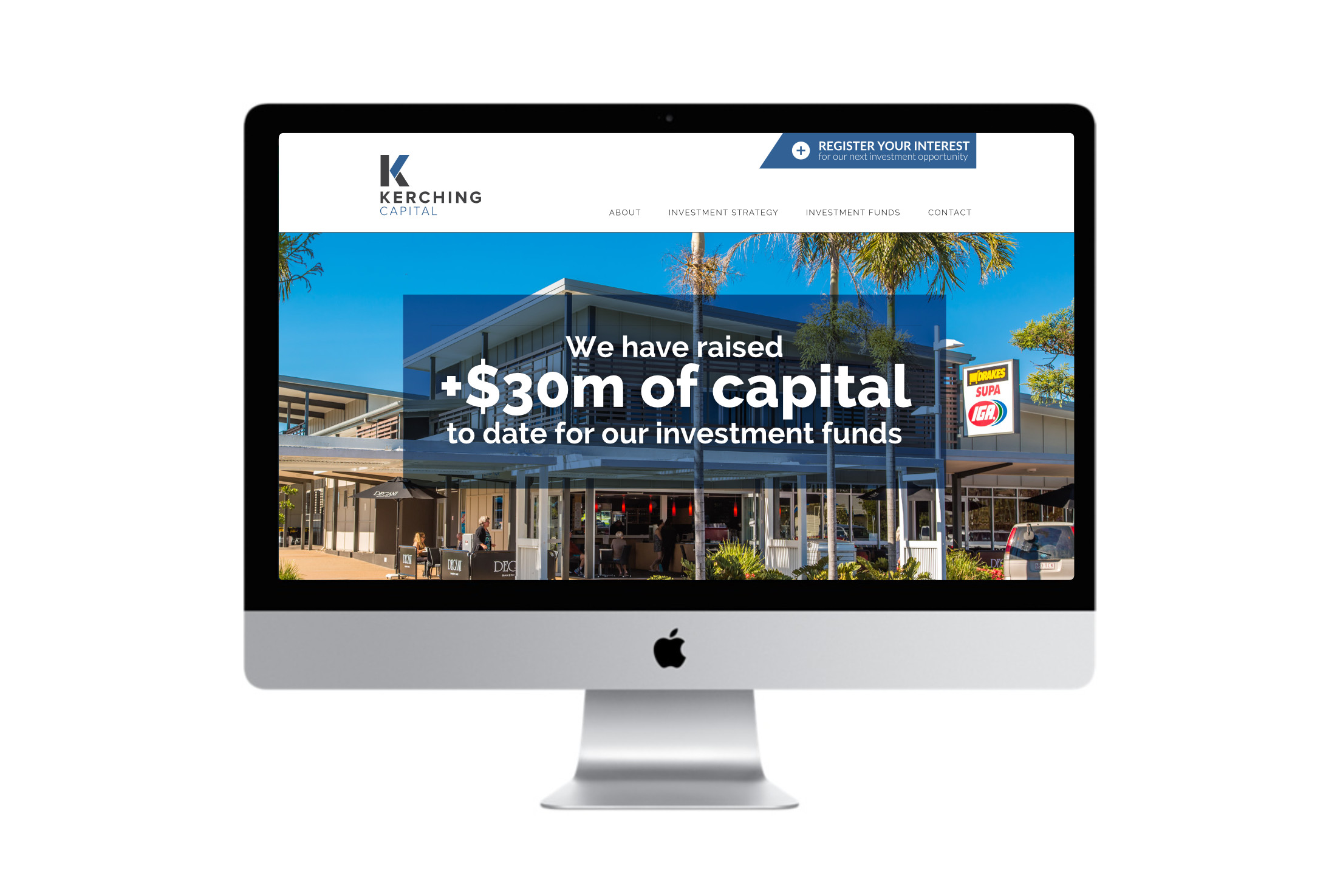 Kerching Capital homepage design by Charlotte Clark